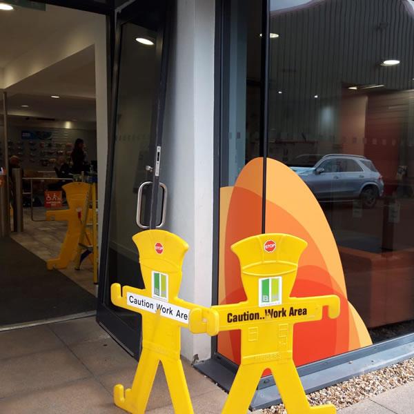 Door Repair At Milton Park, Oxfordshire