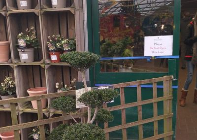 Emergency Door Repair, Burford Garden Centre