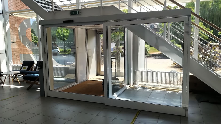 Automatic sliding door conversion to touchless