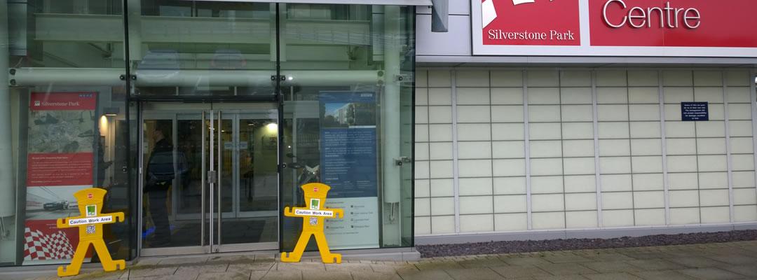 Glass door repair at Silverstone