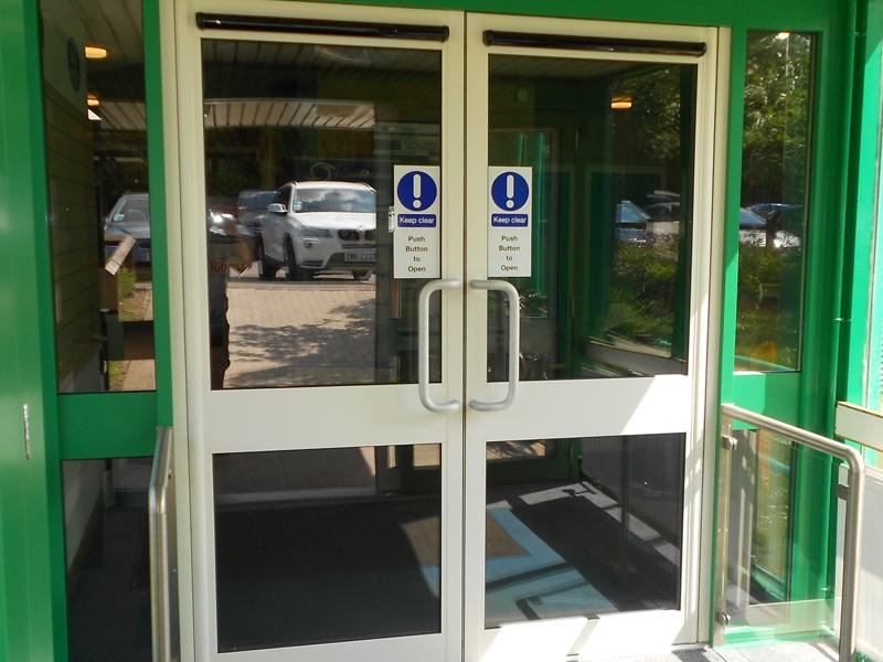 Faringdon installation of automatic swing doors