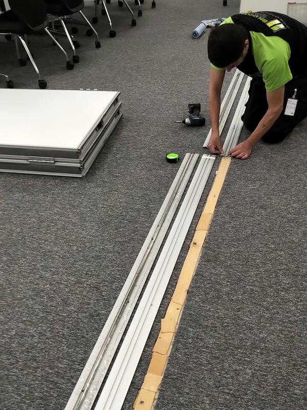 moveable wall installation Banbury