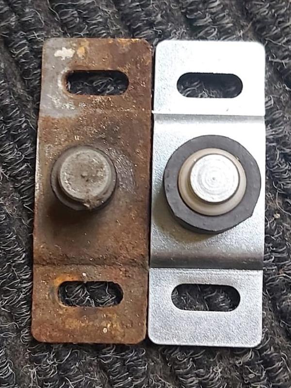 oxford worn floor guides from door repair