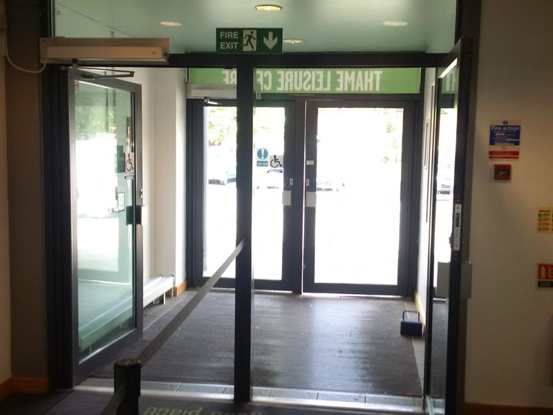 thame leisure centre door installation