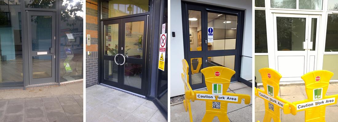 Aluminium doors and shop front door installations