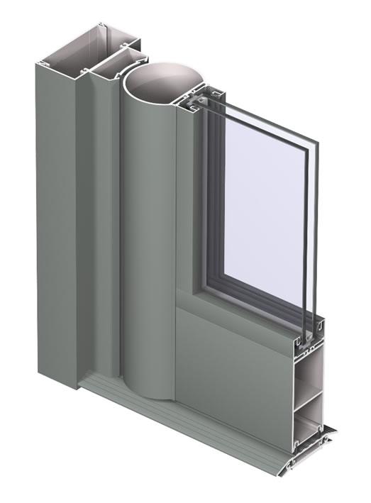 Aluminium front door installation profile