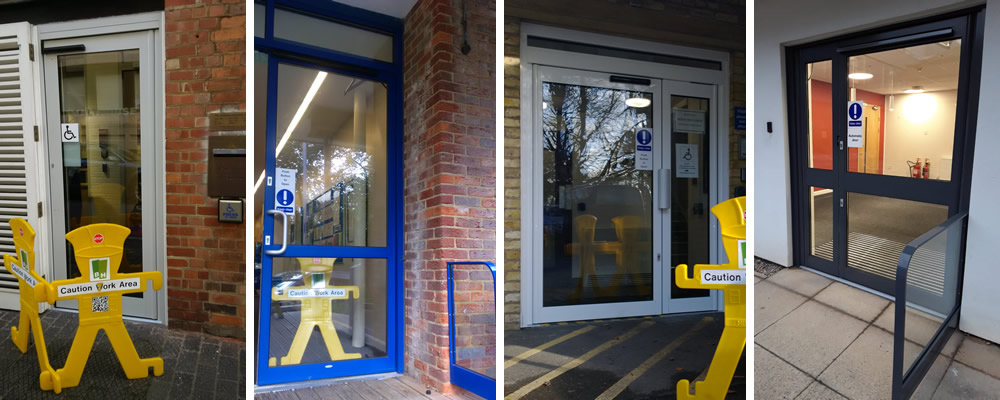 Commercial automatic swing doors