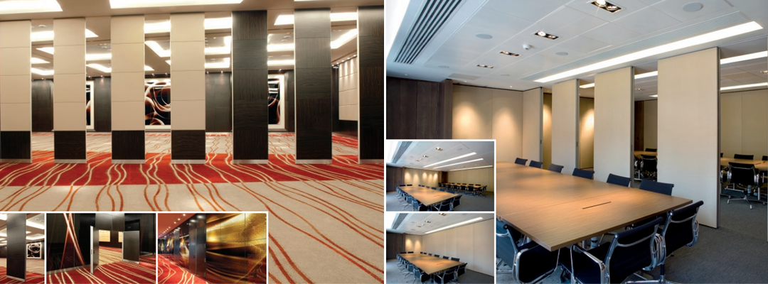 Commercial movable walls and partitions installation