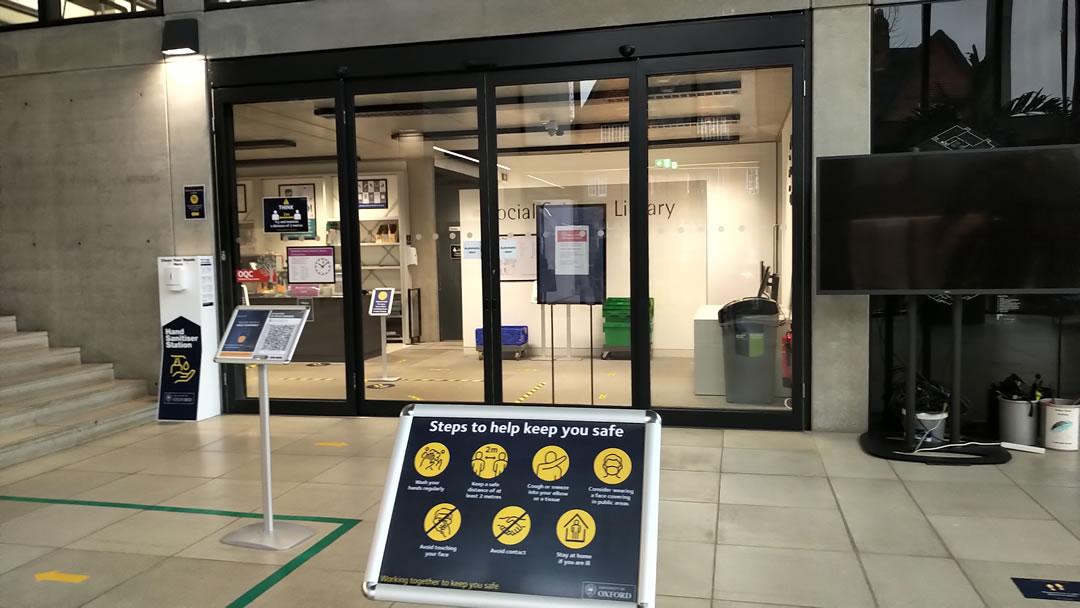 Oxford University automatic sliding doors