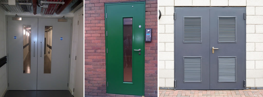 Commercial steel door installations