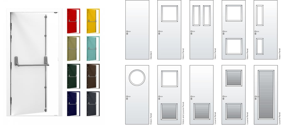 Steel doorsets installation options