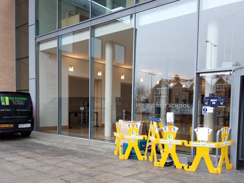 swing door installation Oxford University