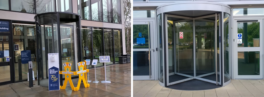 Revolving doors servicing and maintenance